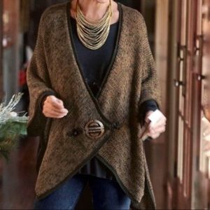 Soft Surroundings Mei Ling Cape Sweater Cardigan